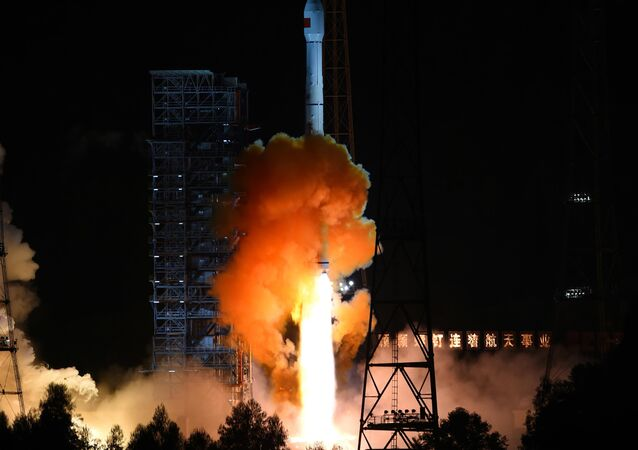 An unmanned spacecraft is launched atop an advanced Long March 3C rocket from the Xichang Satellite Launch Center in southwest China's Sichuan Province.