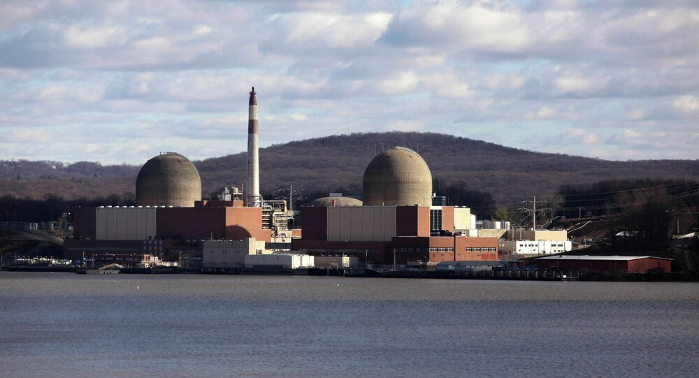 The Indian Point nuclear power plant in Buchanan, New York along the Hudson River.