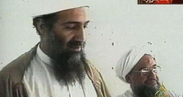 This image taken from video released by Qatar's Al-Jazeera televison broadcast on Friday Oct. 5, 2001 is said to show Osama bin Laden, the prime suspect in the Sept. 11, 2001 terrorist attacks on the United States, at an undisclosed location.