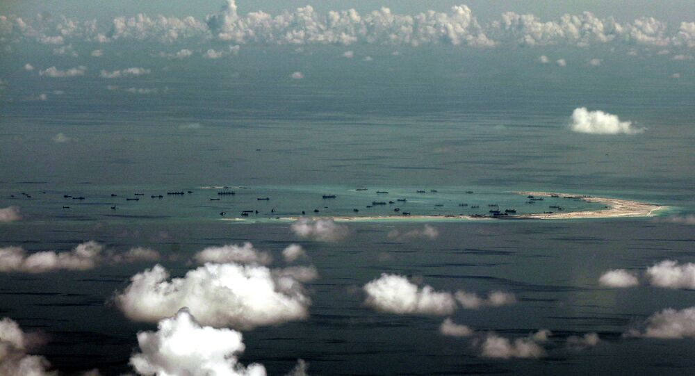 China's alleged on-going reclamation of Mischief Reef in the Spratly Islands.