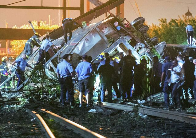Derailment in the Frankfort section of Philadelphia