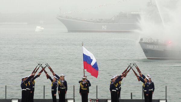 Navy men during the celebration of the Russian Black Sea Fleet's 230th anniversary in Sevastopol - Sputnik International