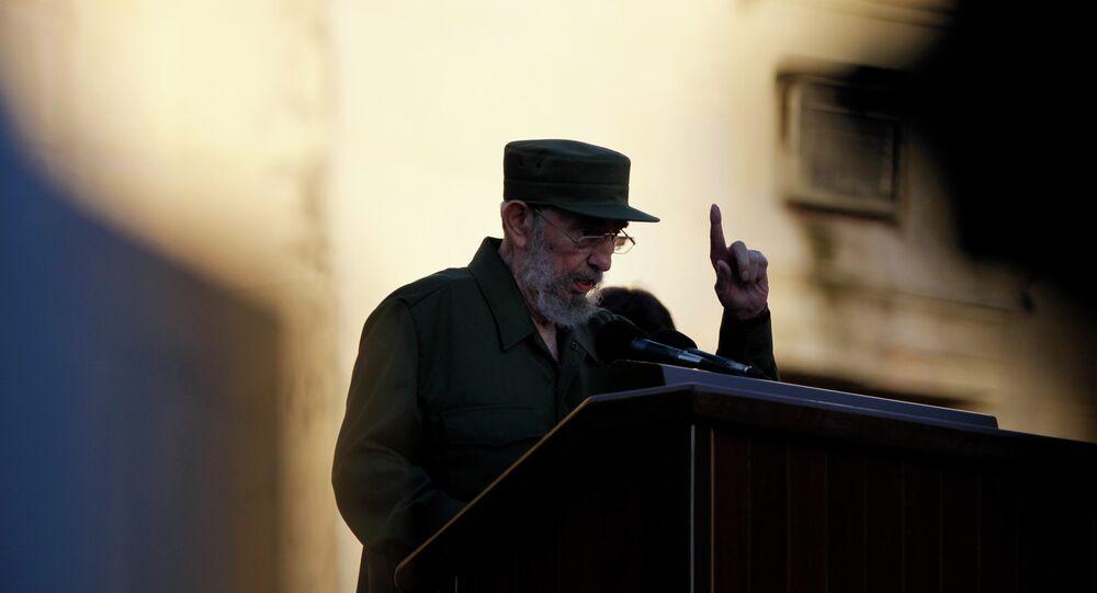 Cuba's leader Fidel Castro