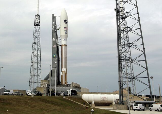 The US Air Force's X-37B Orbital Test Vehicle is attached to a United Launch Alliance Atlas V rocket at the Cape Canaveral Air Force Station in Florida.