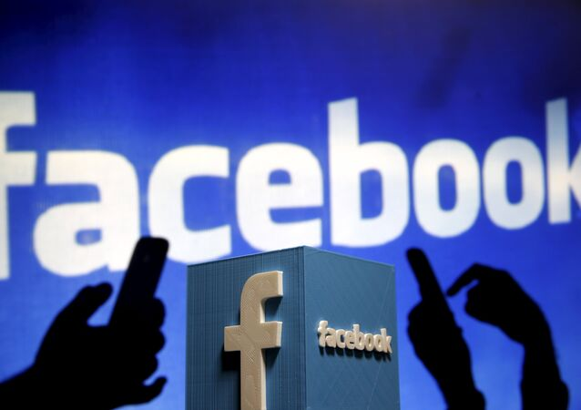 A 3D plastic representation of the Facebook logo is seen in this illustration in Zenica, Bosnia and Herzegovina