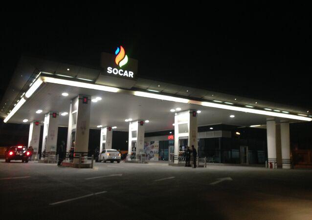 SOCAR fuel filling station on Babek Avenue, Baku, Azerbaijan