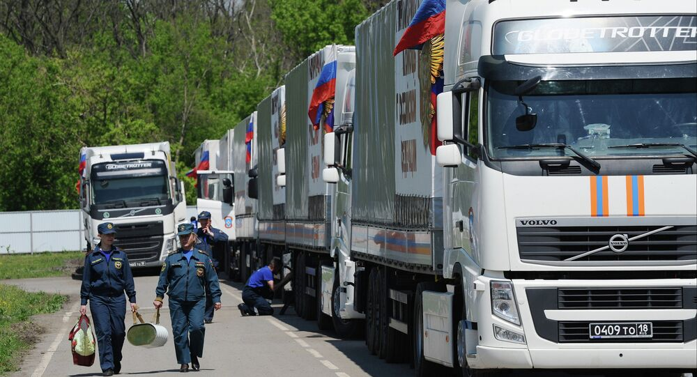Humanitarian aid convoy in Rostov Region prepares to depart for Donbass