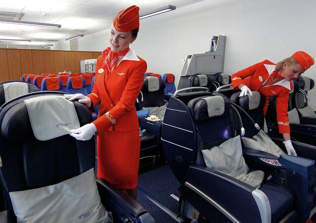 Aeroflot Plane Cabin