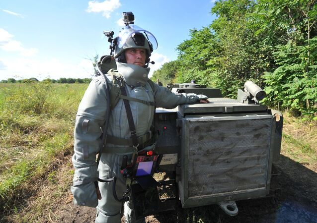Mine clearance in mountainous areas of Chechen Republic