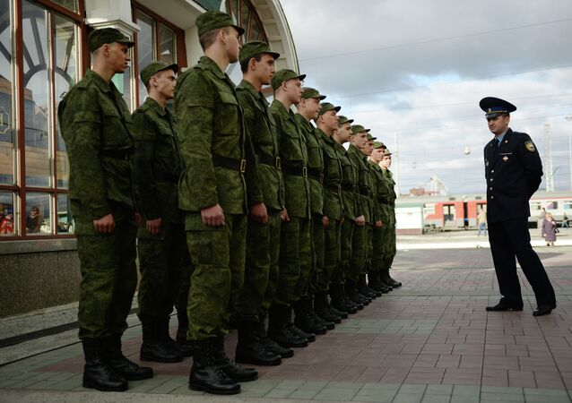 Presidential Regiment conscripts depart from the Russian city of Novosibirsk