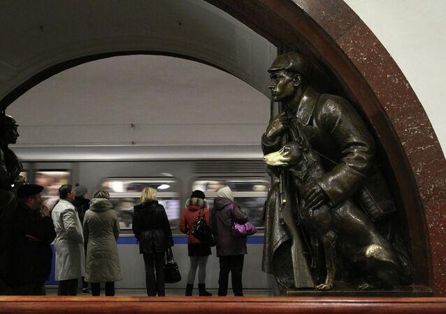 Ploshchad Revolutsii (Revolution Square) Moscow metro station