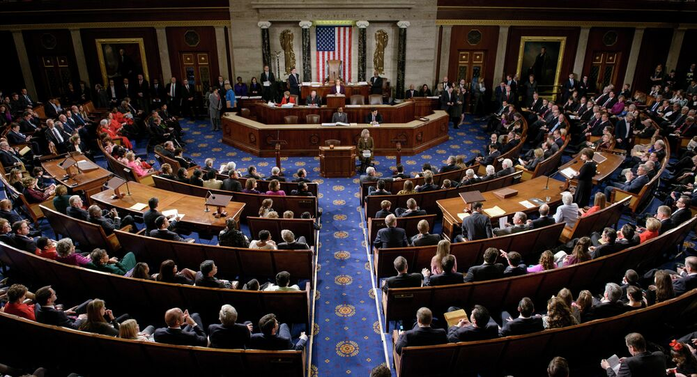 Members of the House of Representatives meet on Capitol Hill January 6, 2015 in Washington, DC