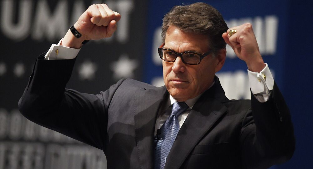 Ex-Texas Gov. Rick Perry speaks at the Freedom Summit, Saturday, May 9, 2015, in Greenville, S.C