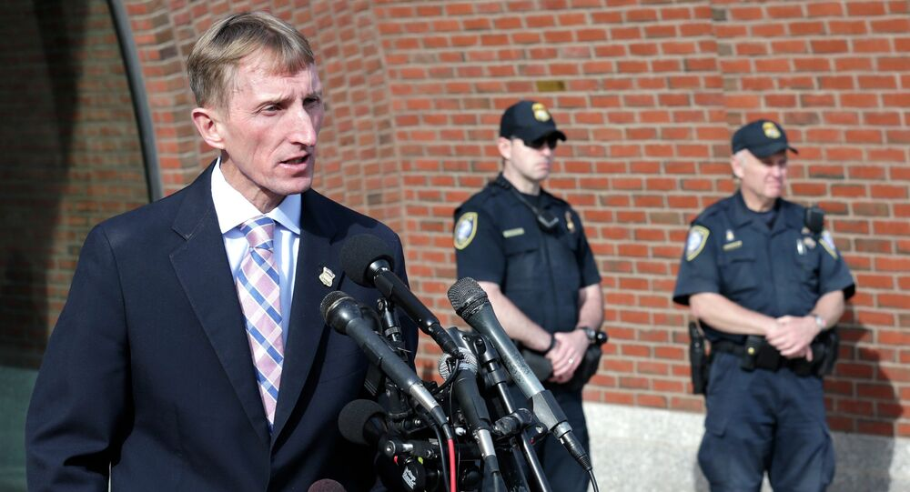 Boston Police commissioner William Evans addresses the media after the verdict in the penalty phase of the trial of Boston Marathon bomber Dzhokhar Tsarnaev, Friday, May 15, 2015