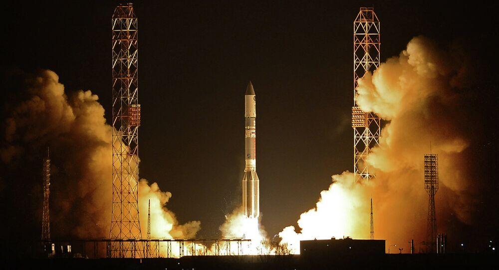 Launching of a Proton-M rocket.