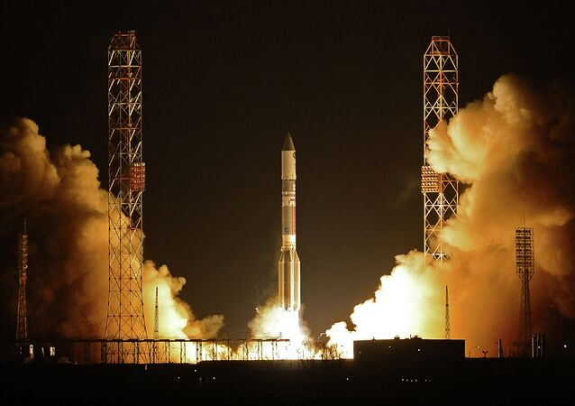 Launching of Proton-M rocket equipped with Briz-M upper stage
