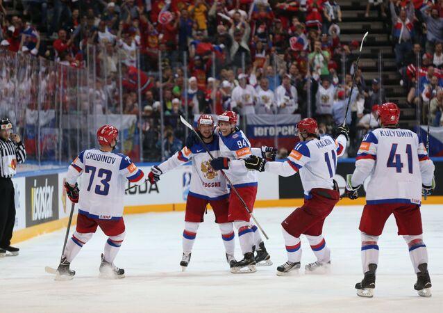 Hockey. The World Cup - 2015. USA - Russia