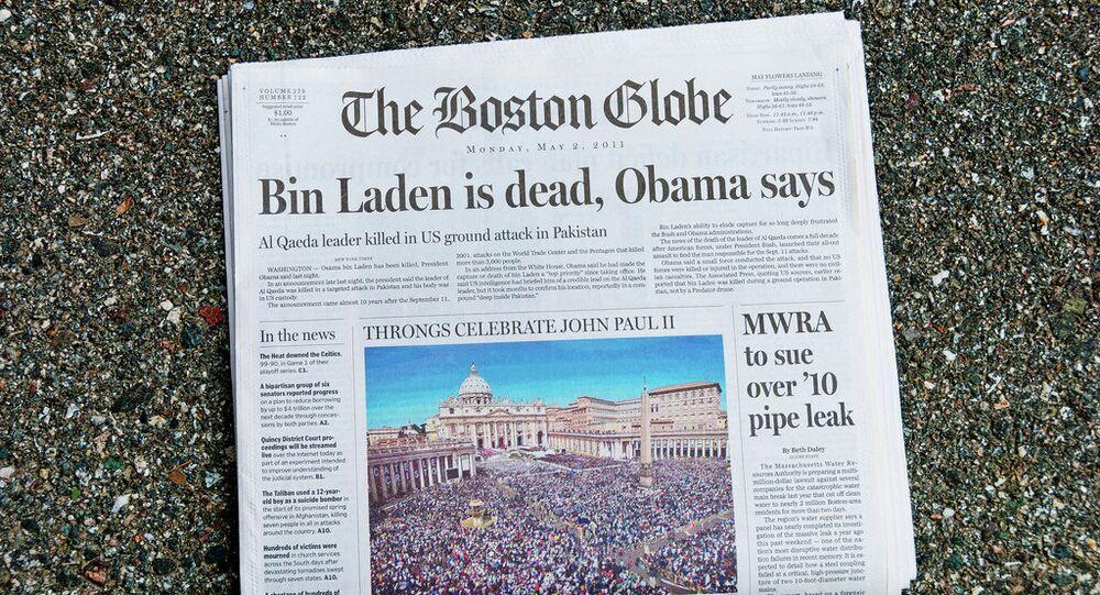 Boston Globe, front page