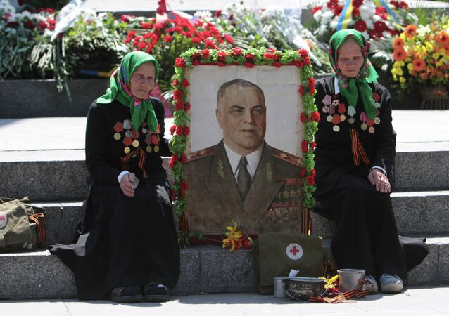 Nationwide orthodox and patriotic procession staged in Ukraine to mark 70 years since Great Patriotic War beginning