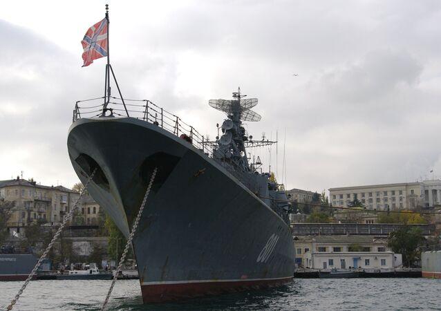 Russian Navy frigate Ladny in Sevastopol