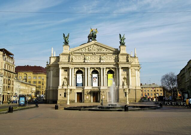 The Lviv National Academic Theater of Opera and Ballet.