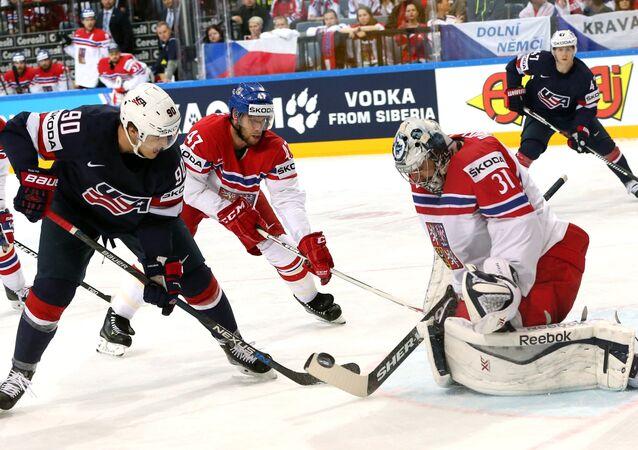 2015 IIHF World Championship. Third-place match. Czech Republic vs. USA