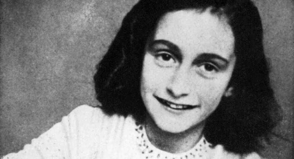A picture released in 1959 shows a portrait of Anne Frank who died of typhus in the Bergen-Belsen concentration camp in May 1945 at the age of 15