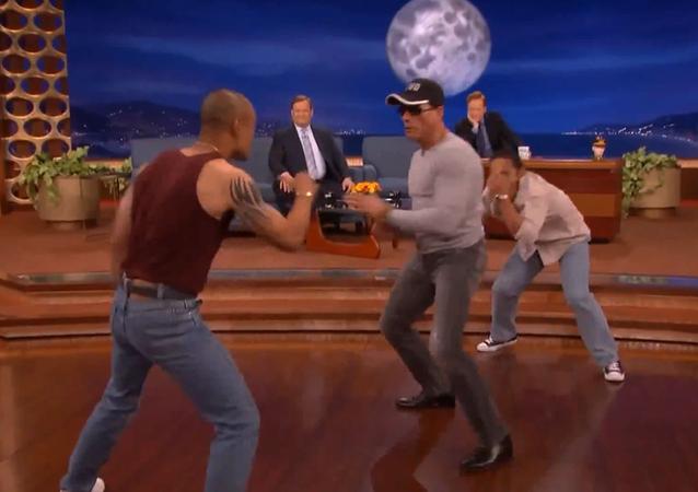 Jean Claude Van Damme Recreates Kickboxer Dance Scene