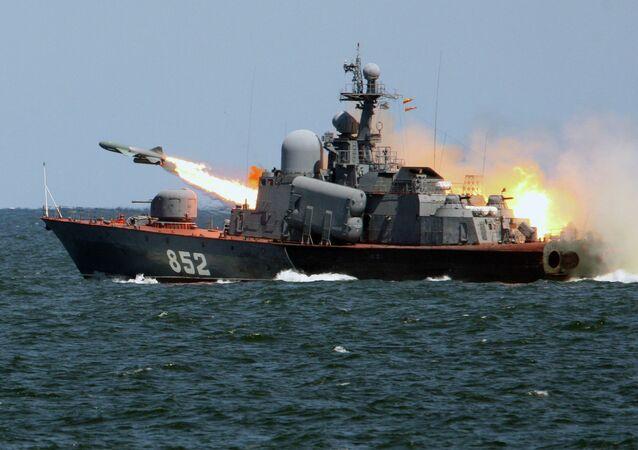 Tactical exercises of Russian Baltic Fleet