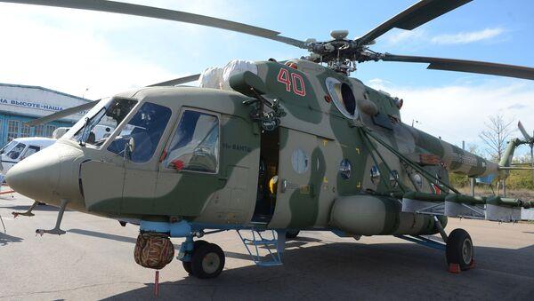 Mil Mi-8 AMTSH military-transport helicopter. Its export version is designated the Mi-171SH - Sputnik International