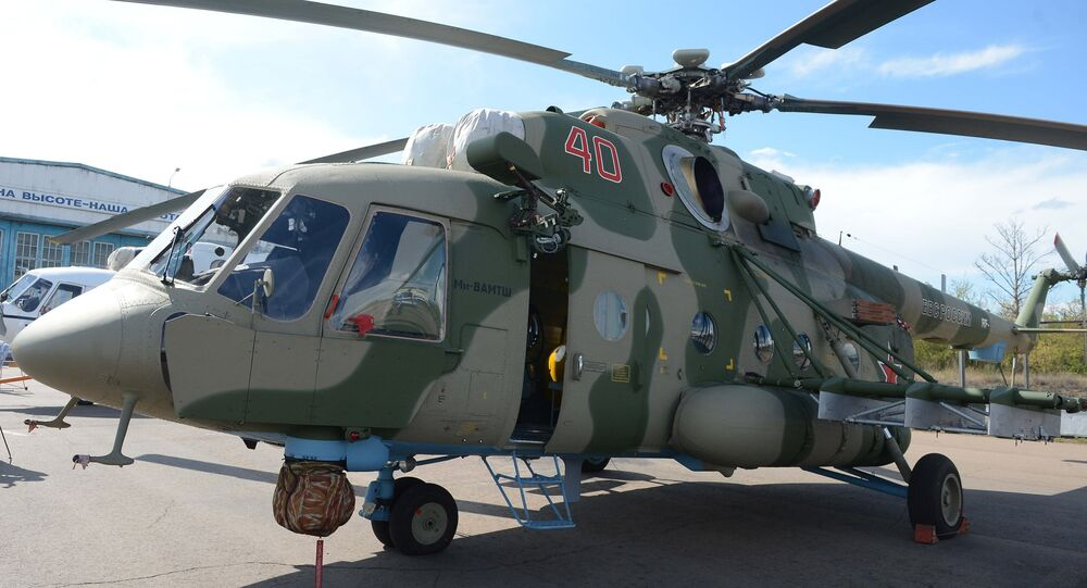 Mil Mi-8 AMTSH military-transport helicopter. Its export version is designated the Mi-171SH
