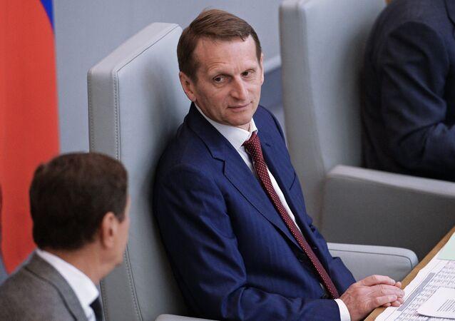 State Duma Chairman Sergey Naryshkin