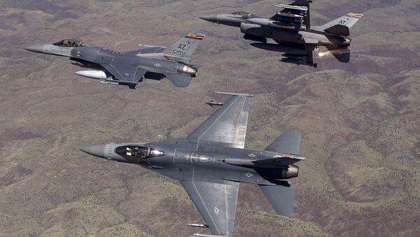 The US Air Force fighter jets - Sputnik International