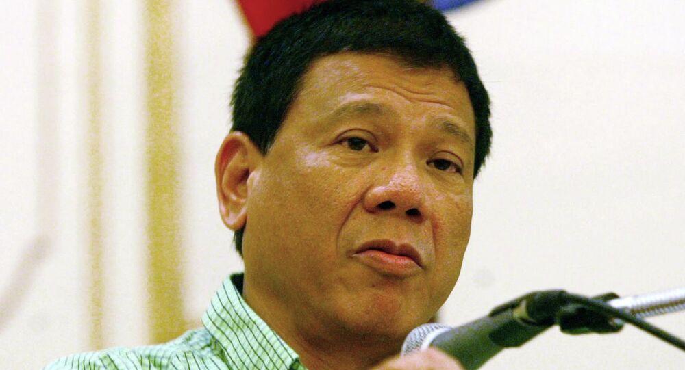 Mayor Rodrigo Duterte of the city of Davao