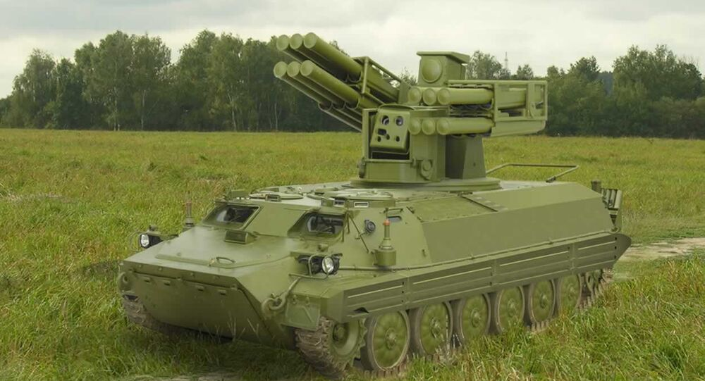 Air defense missile system Sosna