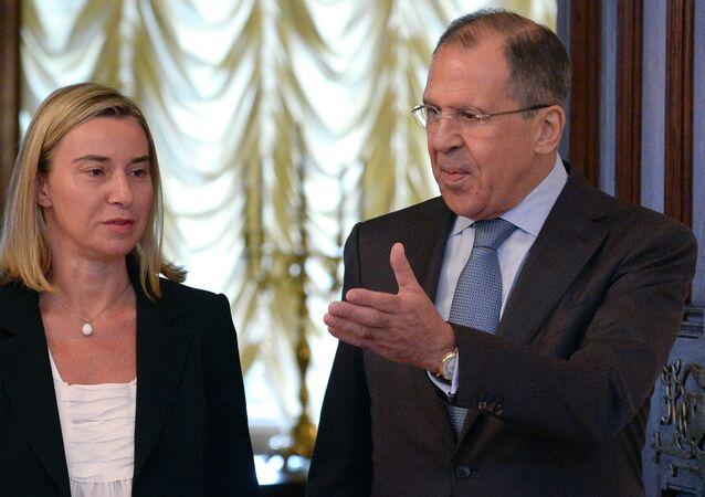Sergei Lavrov  and Federica Mogherini