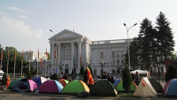 Anti-government protests in Macedonia - Sputnik International