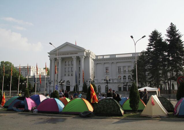 Anti-government protests in Macedonia