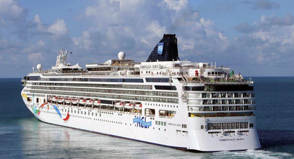 The Norwegian Cruise Line ship Norwegian Dawn