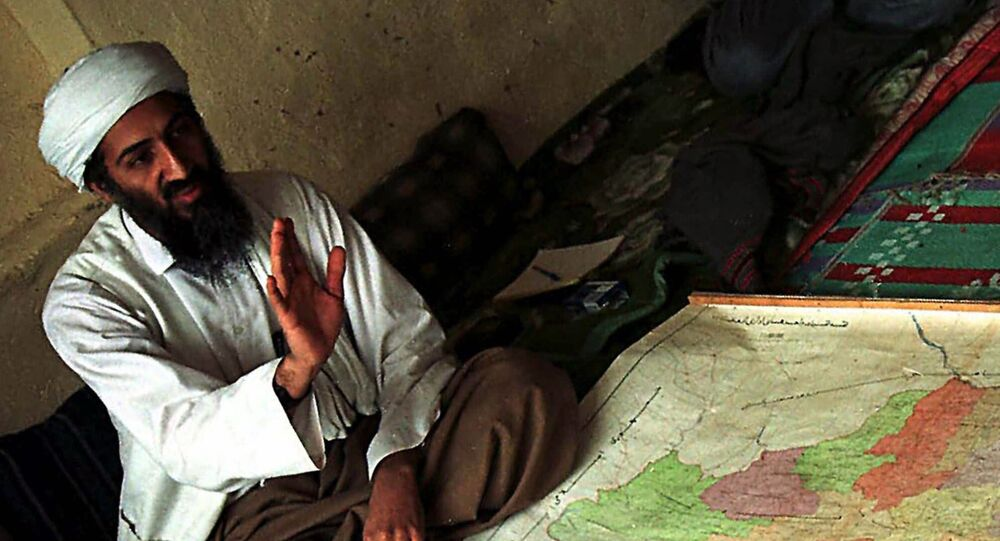 Exiled Saudi dissident Osama bin Laden, identified by the US as being the prime suspect in the attacks on the US, is shown in Afghanistan in this April 1998 file photo
