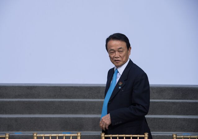 Japanese Finance Minister Taro Aso