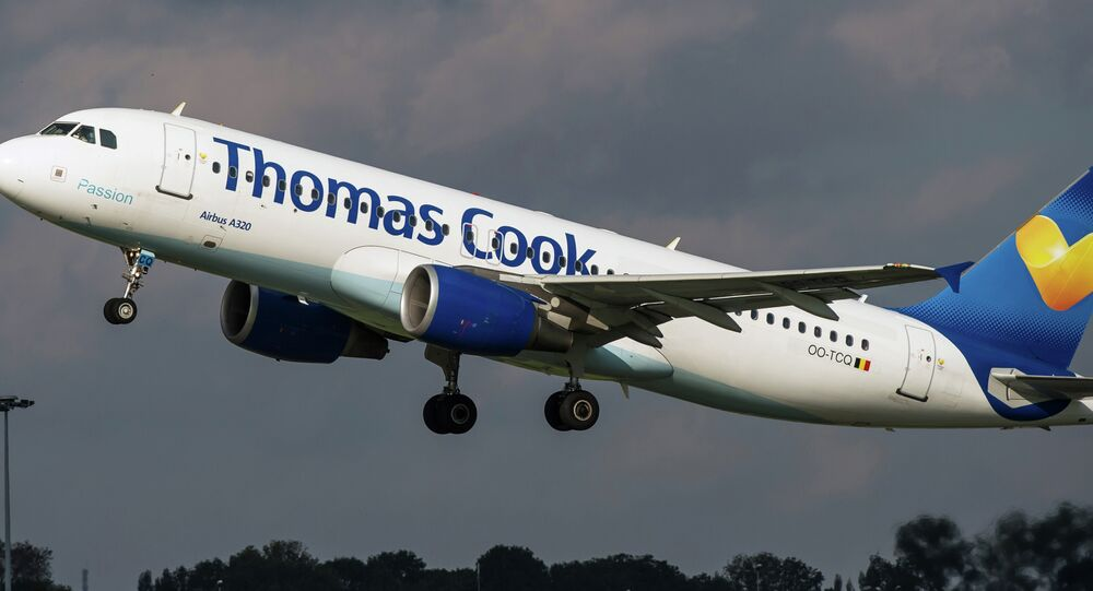An airbus A320 of the Thomas Cook company