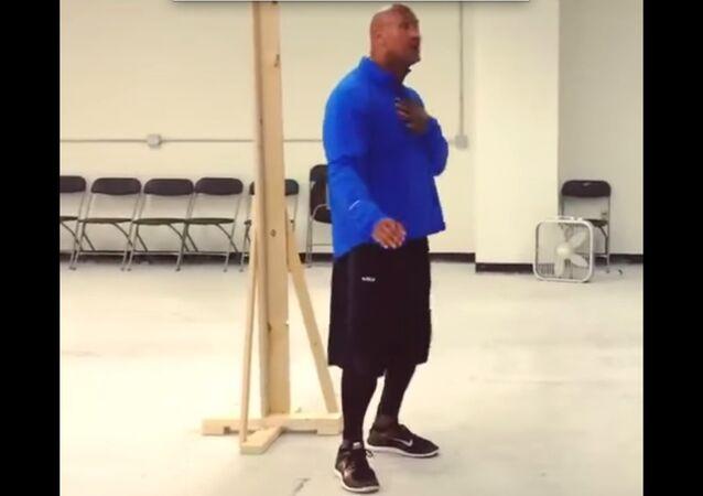 Dwayne Johnson Dance