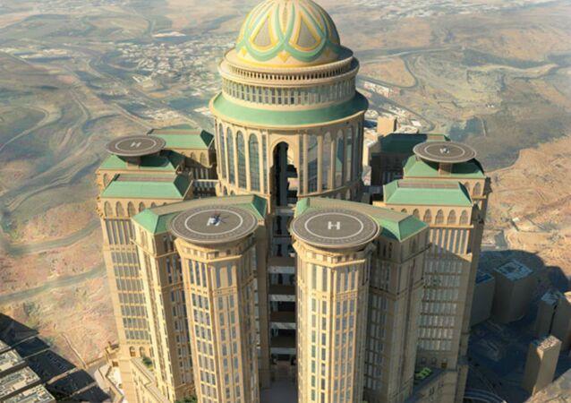 Plans of what Saudi Arabia's Abraj Kudai will look like.