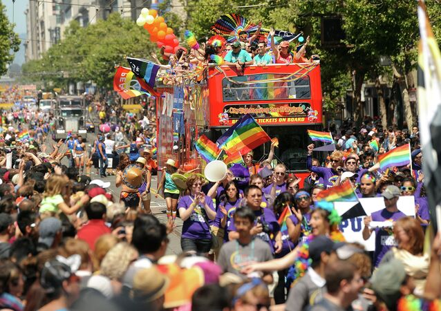 Revelers fill Market Street during San Francisco's 43rd annual Gay Pride parade on Sunday, June 30, 2013