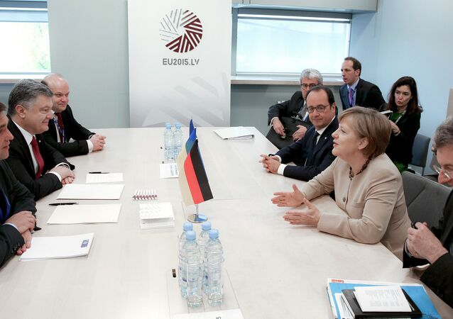 Ukraine's President Poroshenko visits Latvia