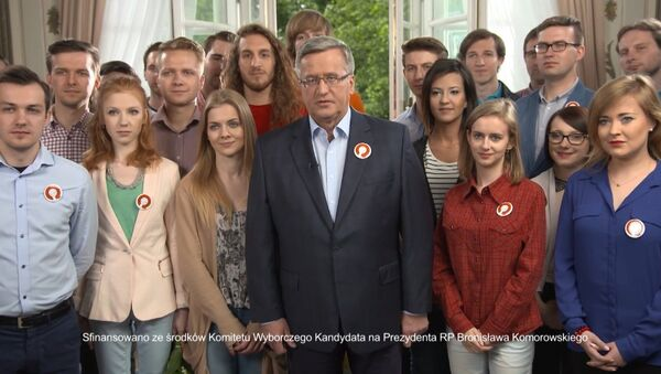 In the spot, featuring the president surrounded by young supporters, Komorowski stated that he was minister of defense when Poland entered NATO. We entered NATO when I was Defense Minister, the president, whose speech focused on the creation of a 'strong, independent and tolerant Poland', noted. - Sputnik International