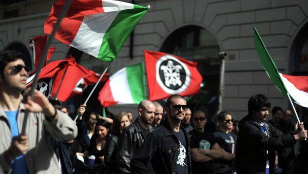 Members of neo-fascit association Casa Pound Italia. File photo - Sputnik International