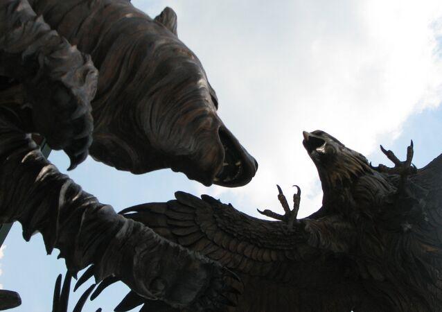 Bear vs eagle