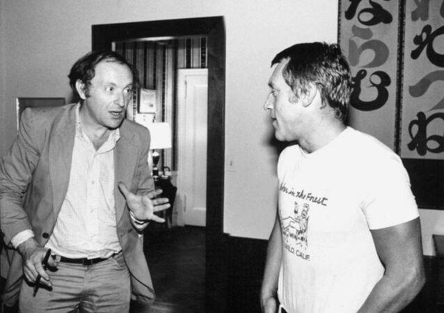Joseph Brodsky and Vladimir Vysotsky in New York City, 1977